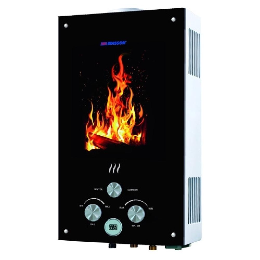 Газовый проточный водонагреватель Edisson Flame F 20 GD (костер)