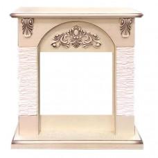 Портал каменный Royal Flame Chester сланец мелкий белый под очаг Vision 18 LED FX