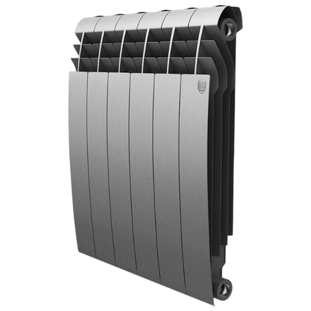 Биметаллический радиатор Royal Thermo BiLiner 500/Silver Satin - 6 секц.