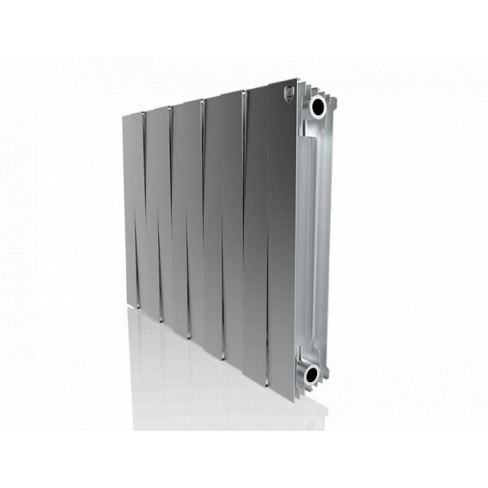 Биметаллический радиатор Royal Thermo PianoForte 500 new/Silver Satin - 10 секц.