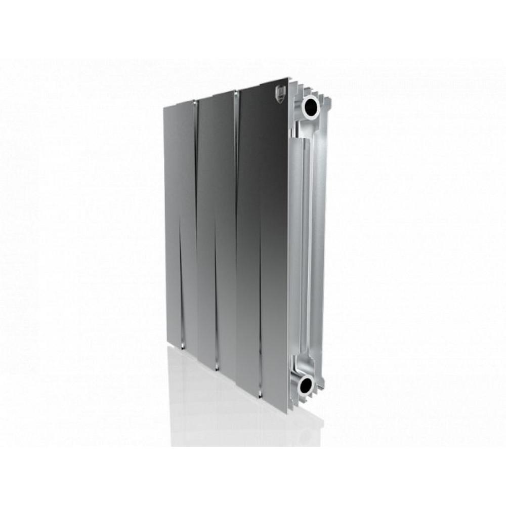 Биметаллический радиатор Royal Thermo PianoForte 500 new/Silver Satin - 6 секц.