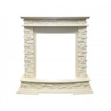 Каменный портал Royal Flame Luzern сланец белыйпод классический очаг