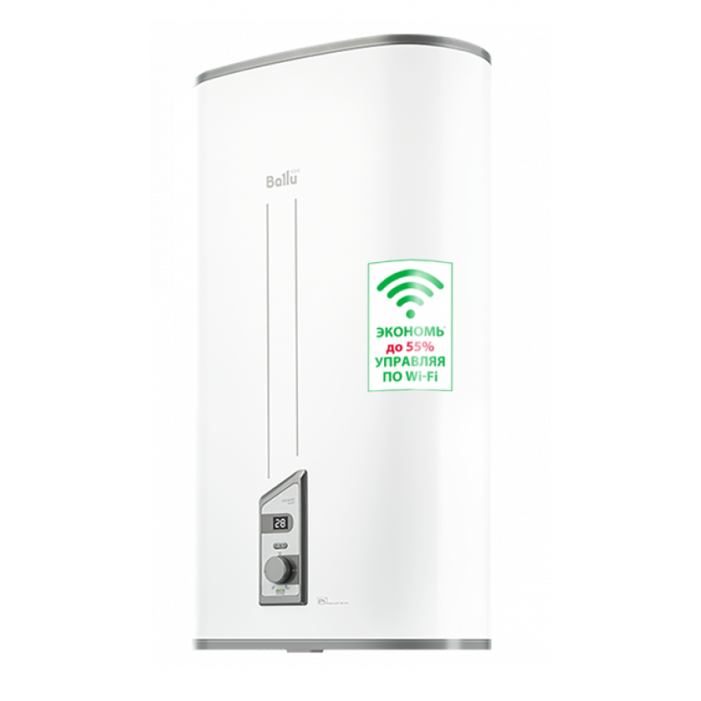 Электрический накопительный водонагреватель Ballu BWH/S 100 Smart WiFi