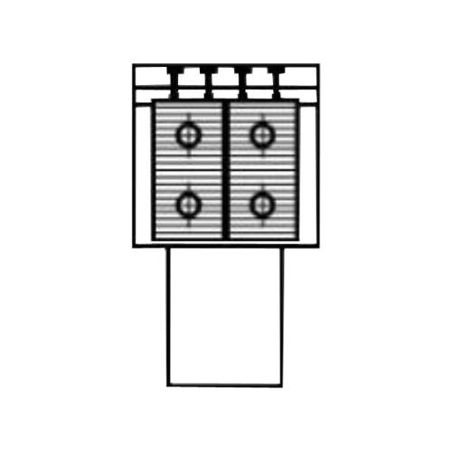 Алюминиевый радиатор Kzto Элегант Мини 130х130х1000 2то