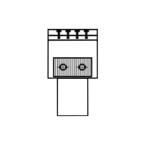 Алюминиевый радиатор Kzto Элегант Мини 130х130х500 1то