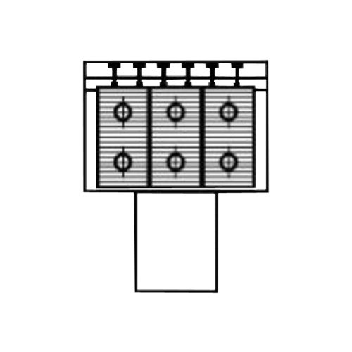 Алюминиевый радиатор Kzto Элегант Мини 180х130х1000 3то