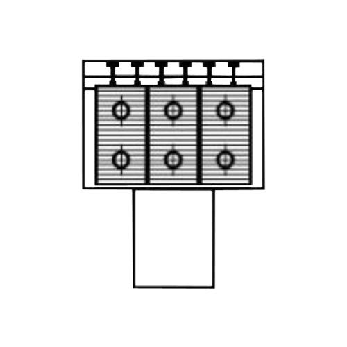 Алюминиевый радиатор Kzto Элегант Мини 180х130х1500 3то