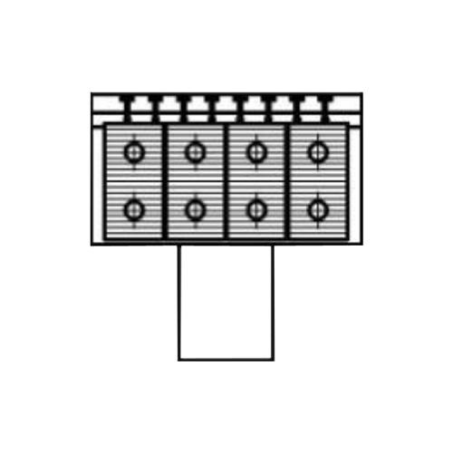 Алюминиевый радиатор Kzto Элегант Мини 230х130х500 4то