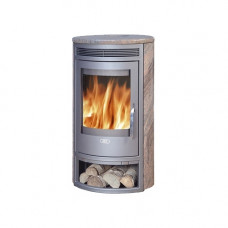 Печь-камин ABX Arktis 6 серая сталь + нержавеющая сталь