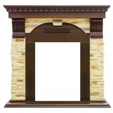 Каменный портал Dimplex Dublin арочный сланец угл.(классика Opti-Myst, Optiflame)