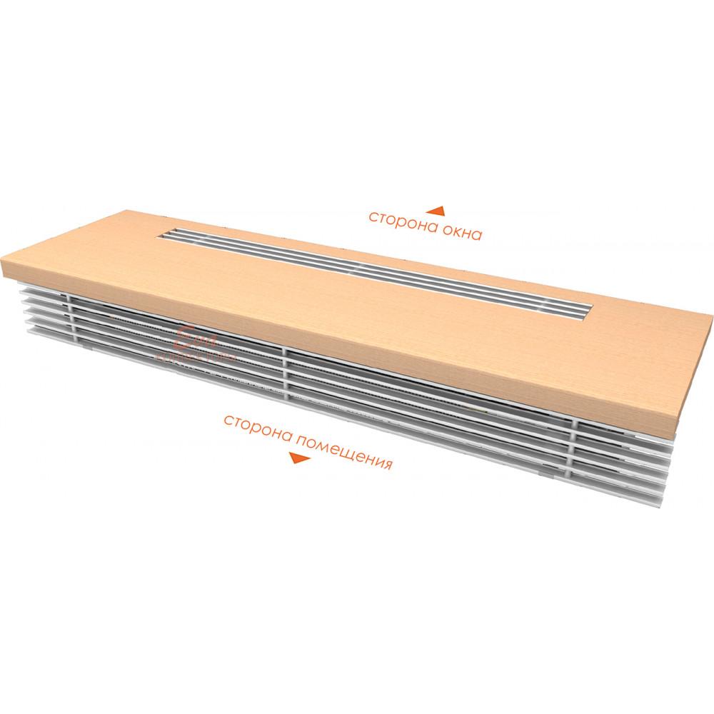 Внутрипольный конвектор Eva КВР(парапетный конвектор) 1250