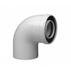 Колено коаксиальное Baxi 90 полипропиленовое, диам. 80/125 для конденсационных котлов